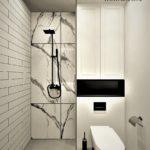 04 - projekt łazienki beton i calacatta - Wnętrza Toruń Chełmno Ciechocinek