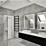 06 - projekt łazienki w domu jednorodzinnym - Wnętrza Toruń Chełmno Ciechocinek
