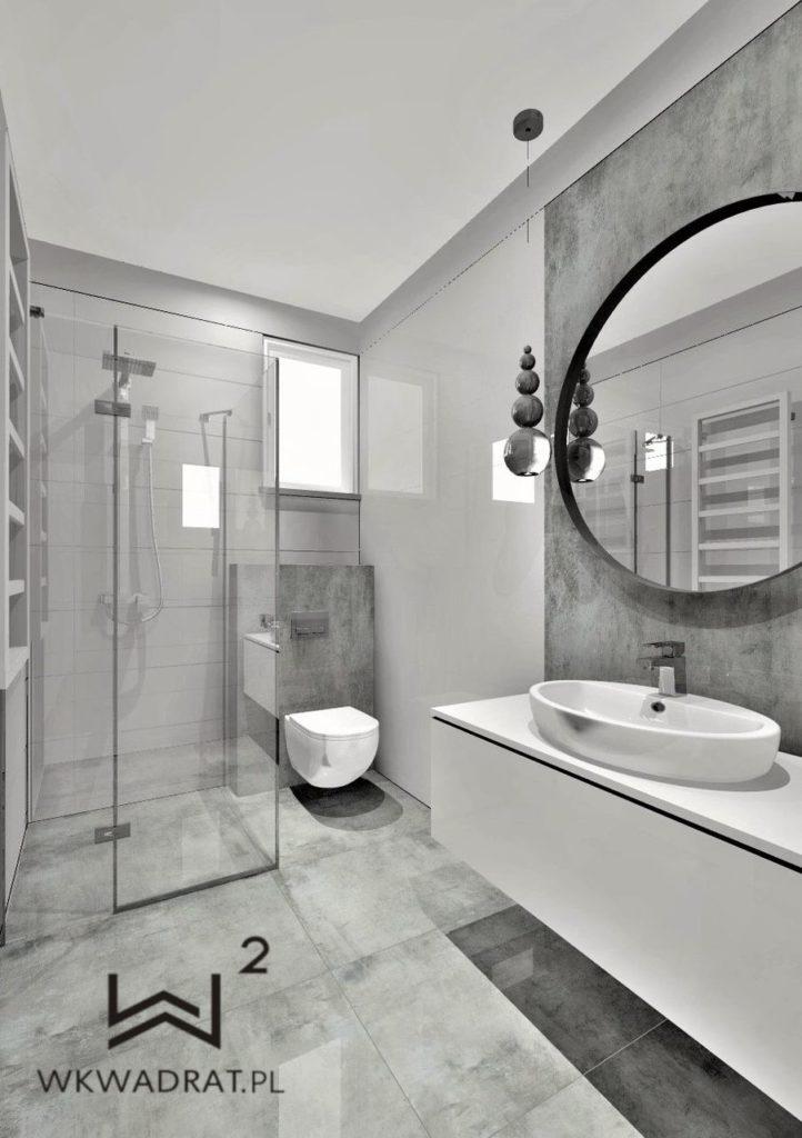 100 - łazienka gościnna - Wnętrza Toruń Ciechocinek Chełmno