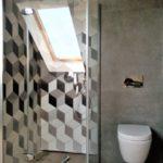 12 - projekt i realizacja łazienki beton i mozajka - Wnętrza Toruń Chełmno Ciechocinek