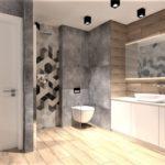 16 - aranżacja łazienki mozajka - projektowanie - Wnętrza Toruń Chełmno Ciechocinek