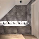 17 - kompleksowy projekt łazienki mozajka i beton - Wnętrza Toruń Chełmno Ciechocinek