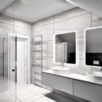 25 - projektowanie i aranżacja wnętrz łazienki - Wnętrza Toruń Chełmno Ciechocinek