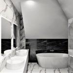 27 - projekt łazienki w domu jednorodzinnym - Wnętrza Toruń Ciechocinek Chełmno