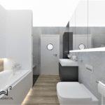 34 - projekt klasycznej łazienki - Wnętrza Toruń Chełmno Ciechocinek