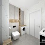38 - projekt łazienki dreno i calacatta - Wnętrza Toruń Chełmno Ciechocinek