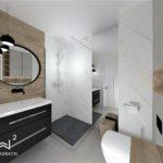 38 -projekt łazienki z projektantem - Wnętrza Toruń Chełmno Ciechocinek