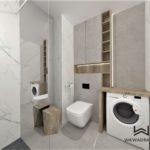 39- aranżacja i projektowanie łazienki drewno i calacatta Wnętrza Toruń Chełmno Ciechocinek