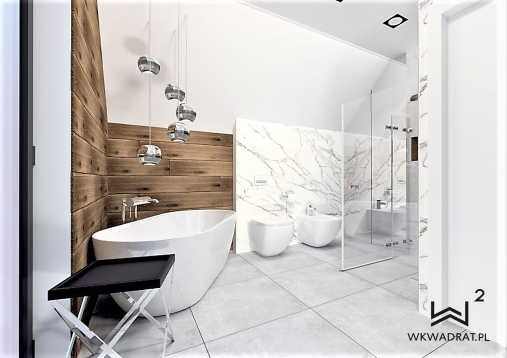 43 - projekt łazienki glamour Wnętrza Toruń Chełmno Ciechocinek