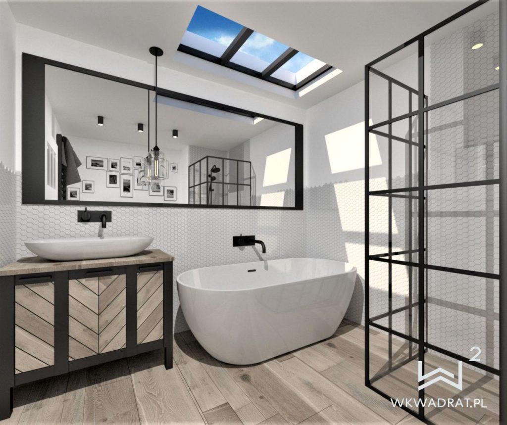 45 - projekt łazienki loft - Wnętrza Toruń Chełmno Ciechocinek
