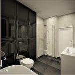 48 - projekt eleganckiej łazienki kamień naturalny - Wnętrza Toruń Ciechocinek Chełmno