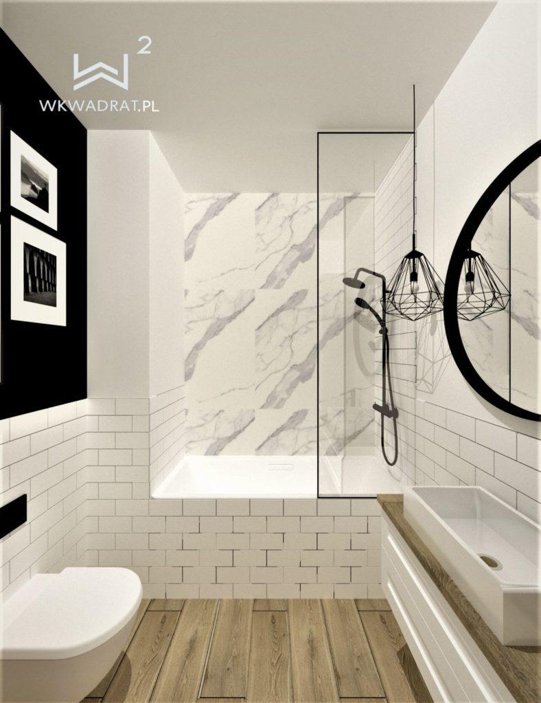 54 - projekt łazienki w stylu skandynawskim - Wnętrza Toruń Ciechocinek Chełmno