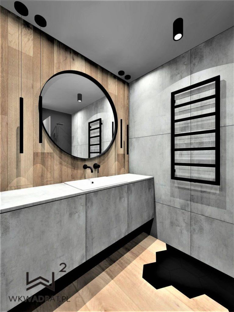 58 - projekt łazienki w apartamencie - Wnętrza Toruń Ciechocinek Chełmno