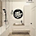 61 - aranżacja łazienki klasycznej - Wnętrza Toruń Ciechocinek Chełmno