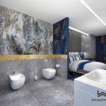 62 - aranżacja i projekt łazienki w apartamencie hotelowym - Wnętrza Toruń Ciechocinek Chełmno