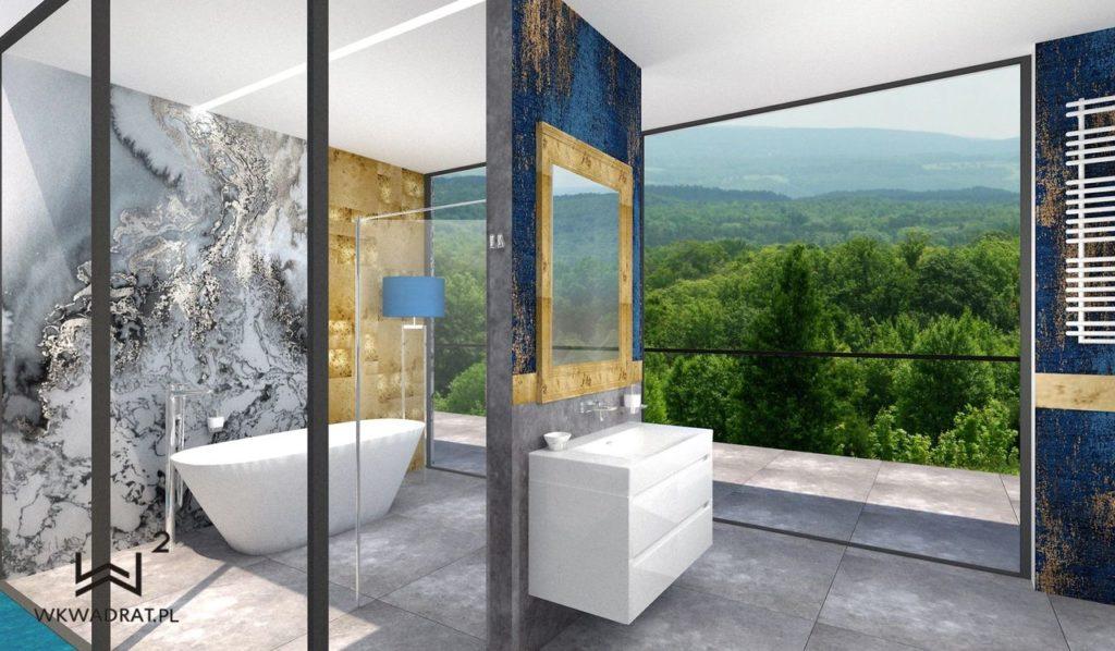 67 - projekt łazienki w pokoju hotelowym - Wnętrza Toruń Ciechocinek Chełmno