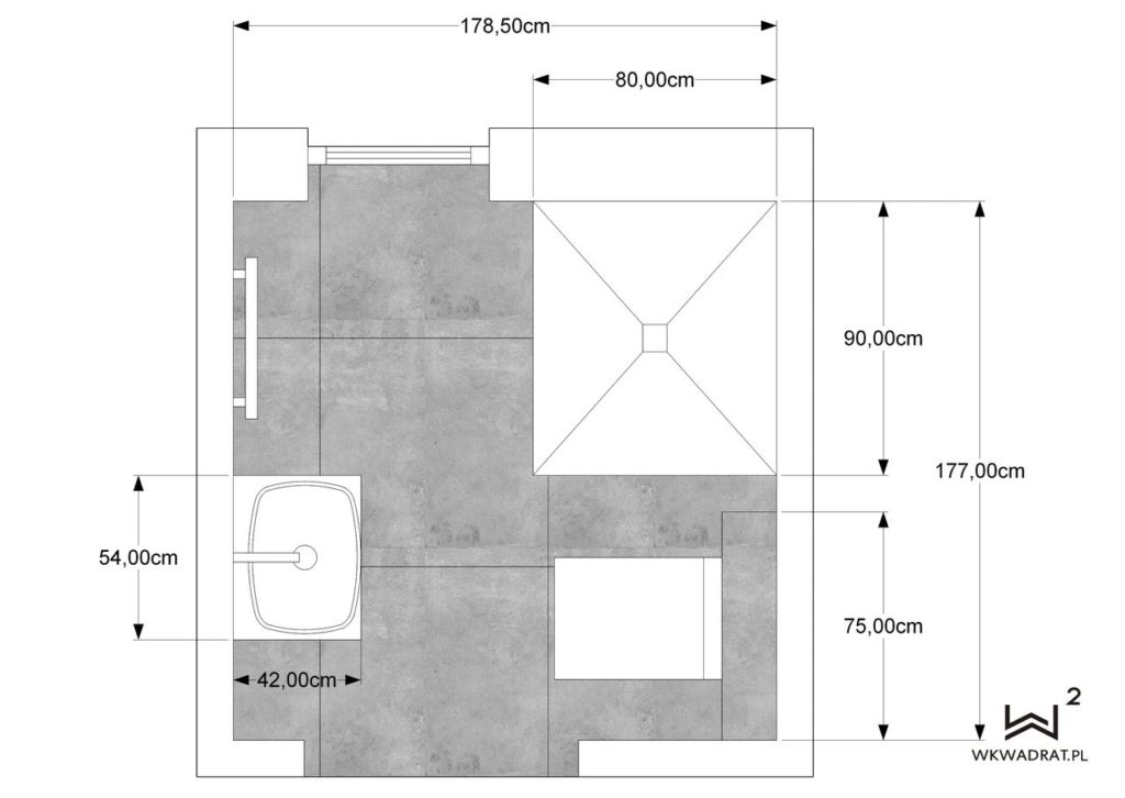 69 aranżacja projekt i dokumentacja łazienki - Wnętrza Toruń Ciechocinek Chełmno
