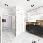 73 - łazienka glamour projekt - Wnętrza Toruń Ciechocinek Chełmno