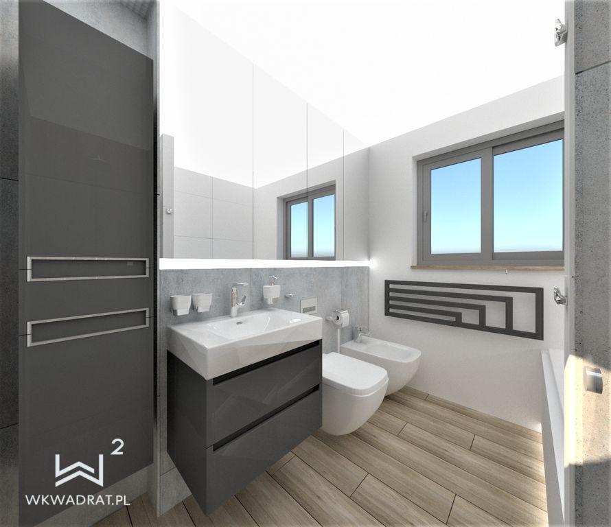 74 łazienka beton i minimalizm - Wnętrza Toruń Ciechocinek Chełmno