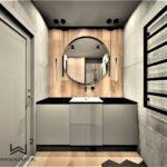 81 - projekt i aranżacja łazienki w apartamencie - Wnętrza Toruń Ciechocinek Chełmno