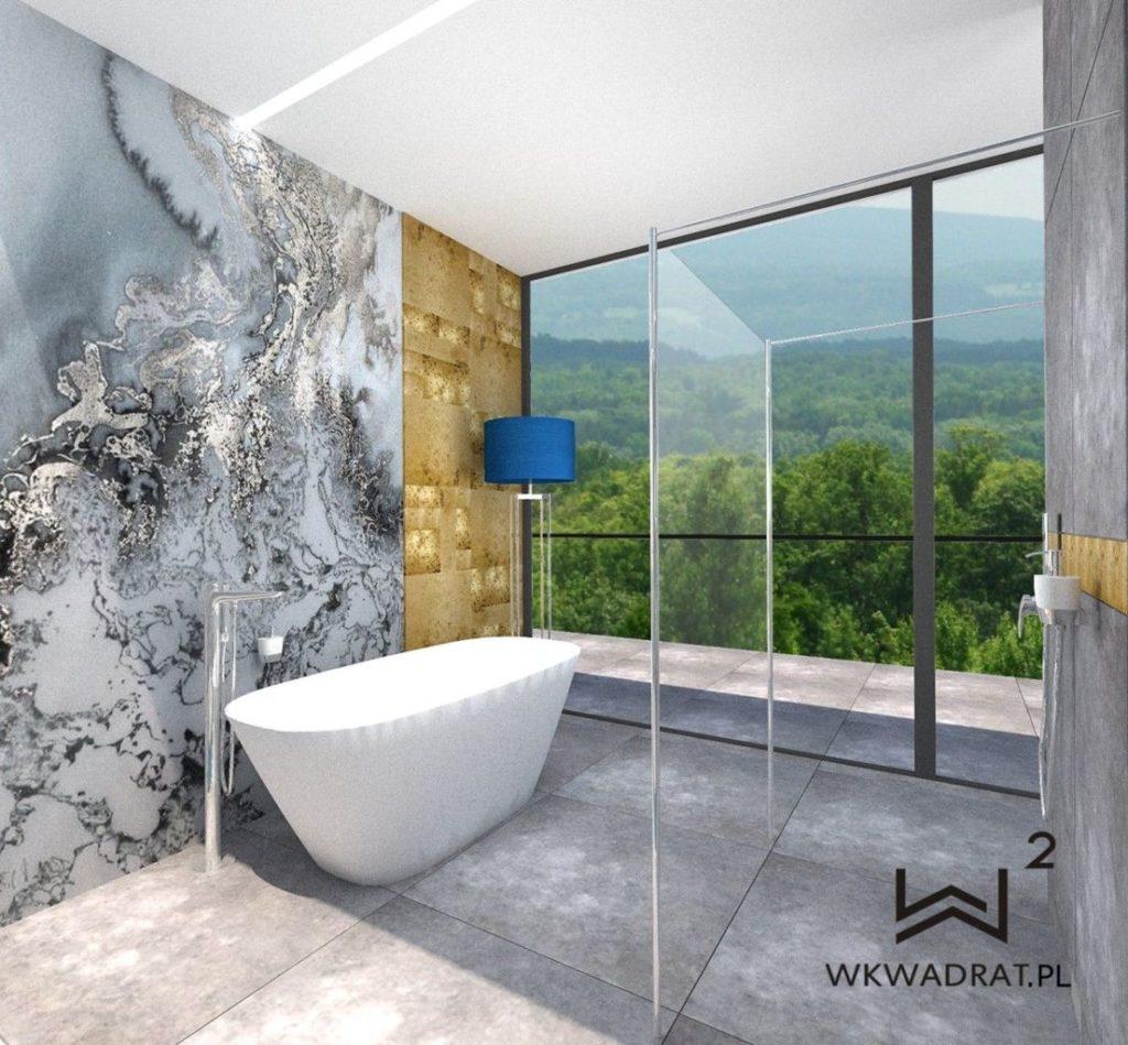 86 - projekt łazienki w apartamencie hotelowym - Wnętrza Toruń Ciechocinek Chełmno