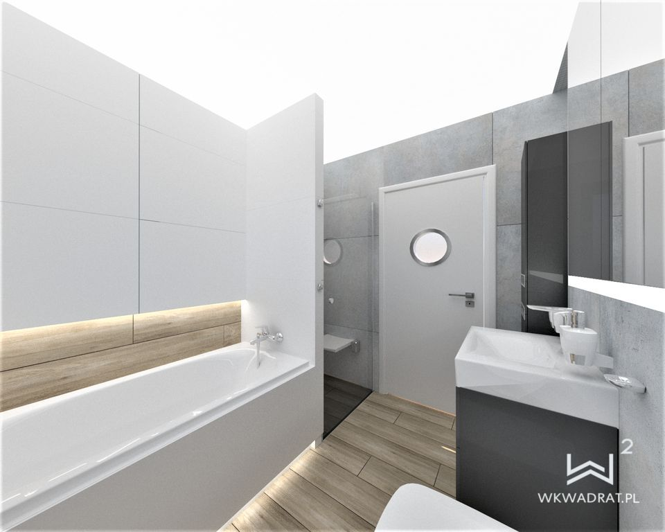 93 - projekt klasycznej łazienki - Wnętrza Toruń Ciechocinek Chełmno